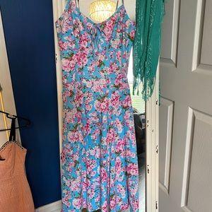 Bernie dexter blue and pink floral dress